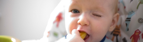 baby led weaning first foods peaches