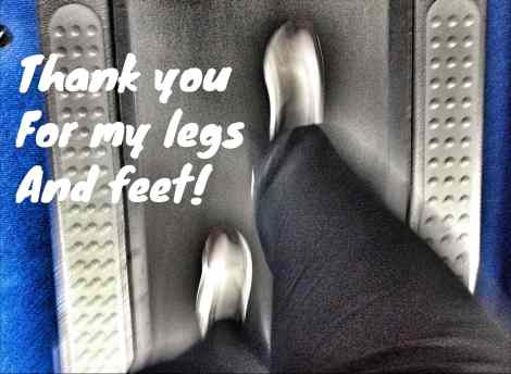 thank you for my legs and feet