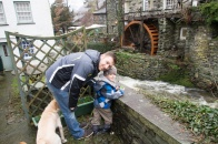 At the water wheel in Ambleside