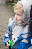 Well wrapped toddler